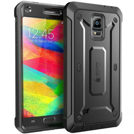 Supcase  Samsung Galaxy Note 4 Case   Unicorn Beetle Pro Series Protective Cover With Built In Screen  Note 4 Case