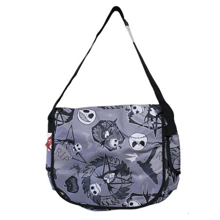 The Nightmare Before Christmas Jack Skellington Tombstone Themed Messenger Bag