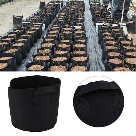 10Pcs Non Woven Fabric Smart Plant Indoor Outdoor Grow Prune Pots Bag Containers Garden Supplies 5 Gallon
