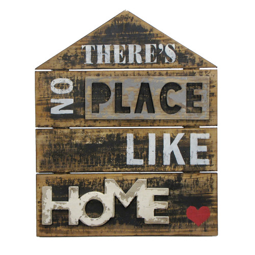Wilco Home ''There's No Place like Home'' Textual Art Plaque