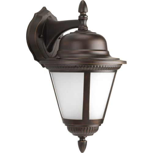 """Progress Lighting P5863-WB Westport 1 Light 16"""" Tall Outdoor Wall Sconce with Seeded Frosted Glass"""