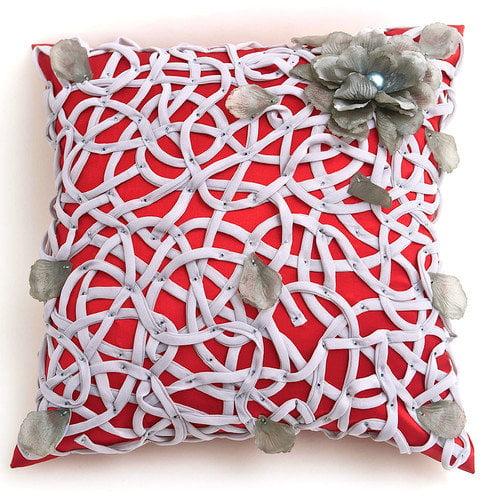 Debage Inc. Veranda Tangled Flower Throw Pillow
