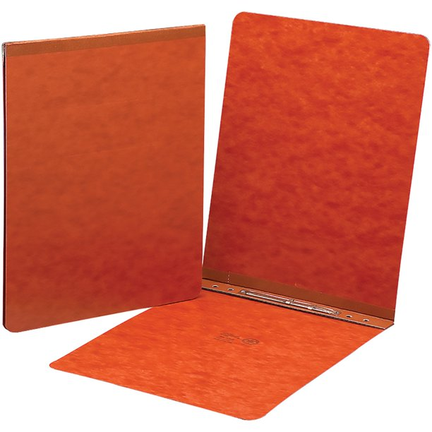 Smead PressGuard Report Covers With Fastener, Red, 1 Each