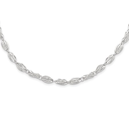 14k White Gold Cuban Link Chain Necklace Pendant Charm Fancy Gifts For Women For -