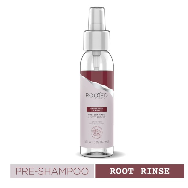 Rooted Rituals Pre-Shampoo Root Rinse, Ginger Root and Mint, 5.7 oz