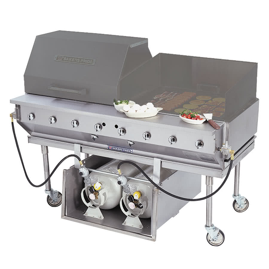 "TableTop king CBBQ-30S-CP 30"" Ultimate Outdoor Gas Charbroiler with Tank Caddy and Grill Cover Accessories"