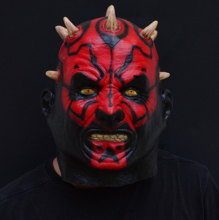 Creepy Evil Scary Halloween Mask Rubber Latex - Darth Maul Devil Costume Mask