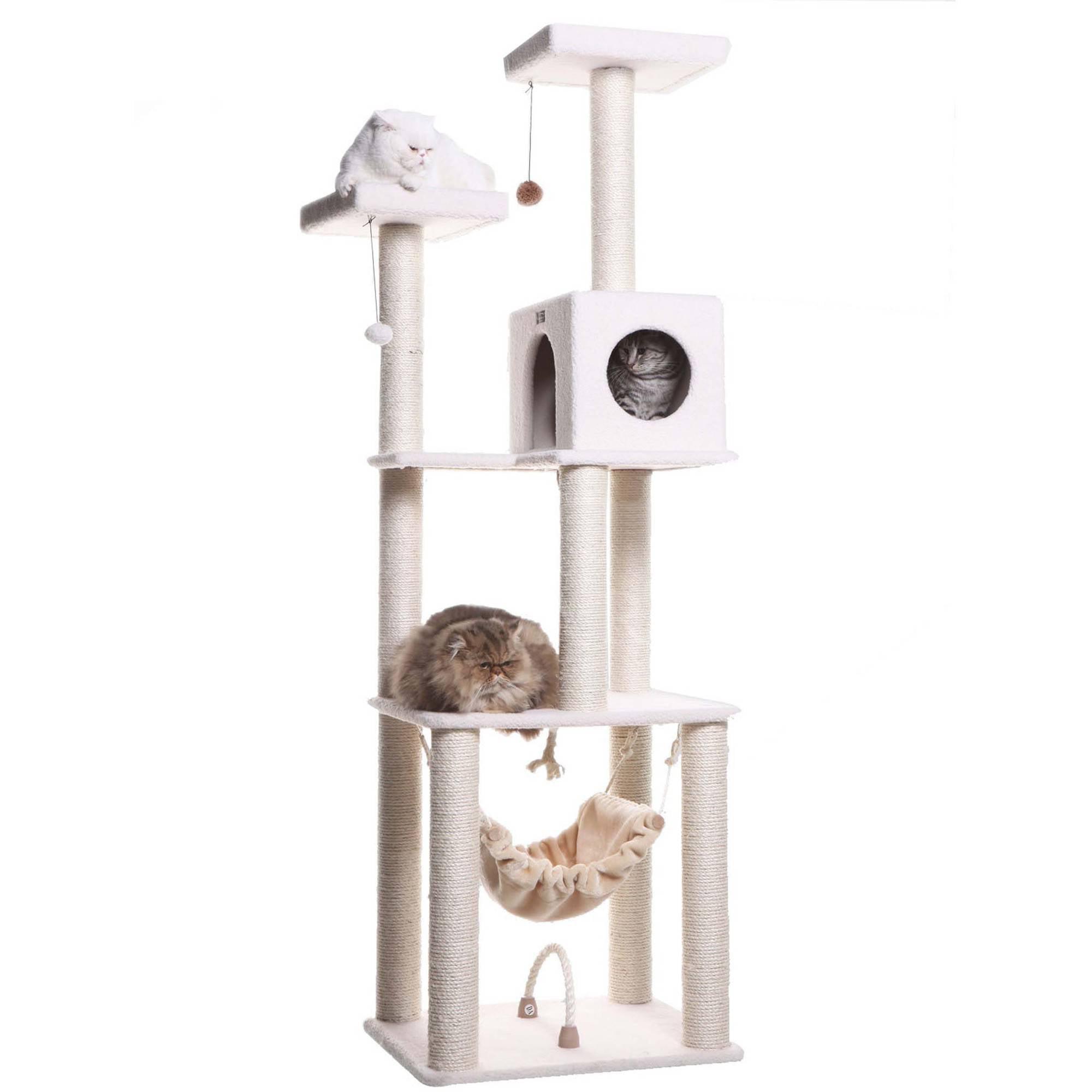 Armarkat Classic Deluxe Cat Tree, Model B7301, Ivory by Aeromark Intl Inc