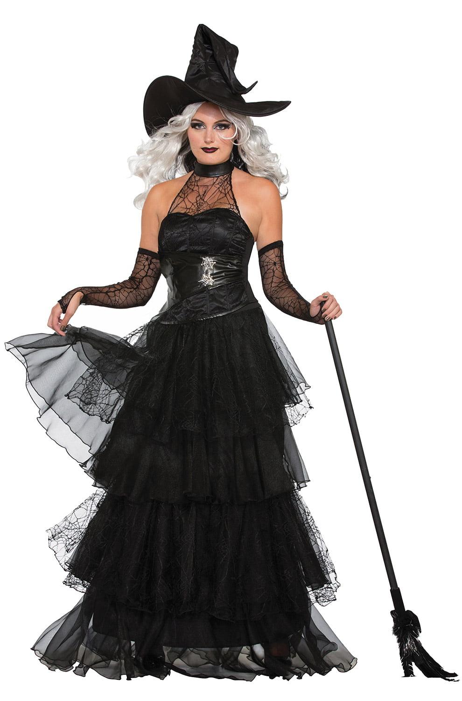 Morris Costumes Women/'s Elegant Mist Witch Adult Lace Costume Black M//L FM76785