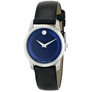 Movado Women's 0606611 Museum Classic Stainless Steel Watch with Leather Band