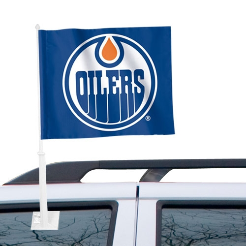 "Edmonton Oilers WinCraft 11"" x 13"" Two-Sided Car Flag - No Size"