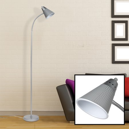 Silver 59 Floor Lamp Mesh Shade Home Living Room Bendable