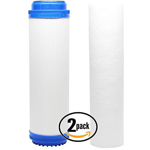 2-Pack Universal 10 inch Sediment, GAC Filter - Compatible with Aqua Pure AP101T, Aqua-Pure AP11T, GE GX1S01R, Aqua Pure SST1HA, Aqua Pure AP102T, Aqua-Pure AP1610SS, Aqua Pure SST1 by CFS