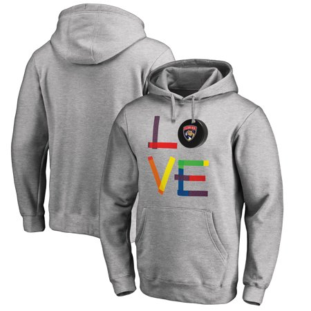 Florida Panthers Fanatics Branded Hockey Is For Everyone Love Square Pullover Hoodie - Heather Gray