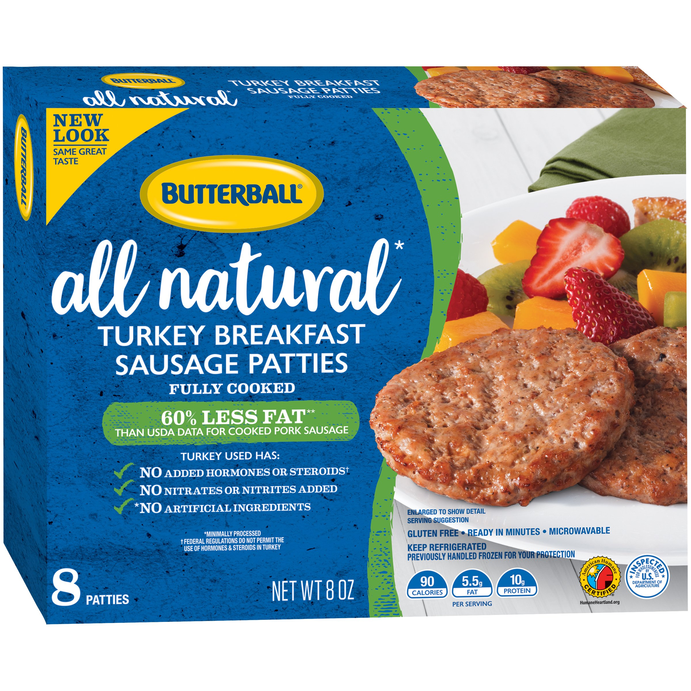 Butterball® Natural Inspirations Turkey Breakfast Sausage Patties 8 oz.Package