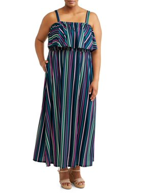 f21ca7ee452d Product Image Women's Plus Size Flounce Maxi Dress