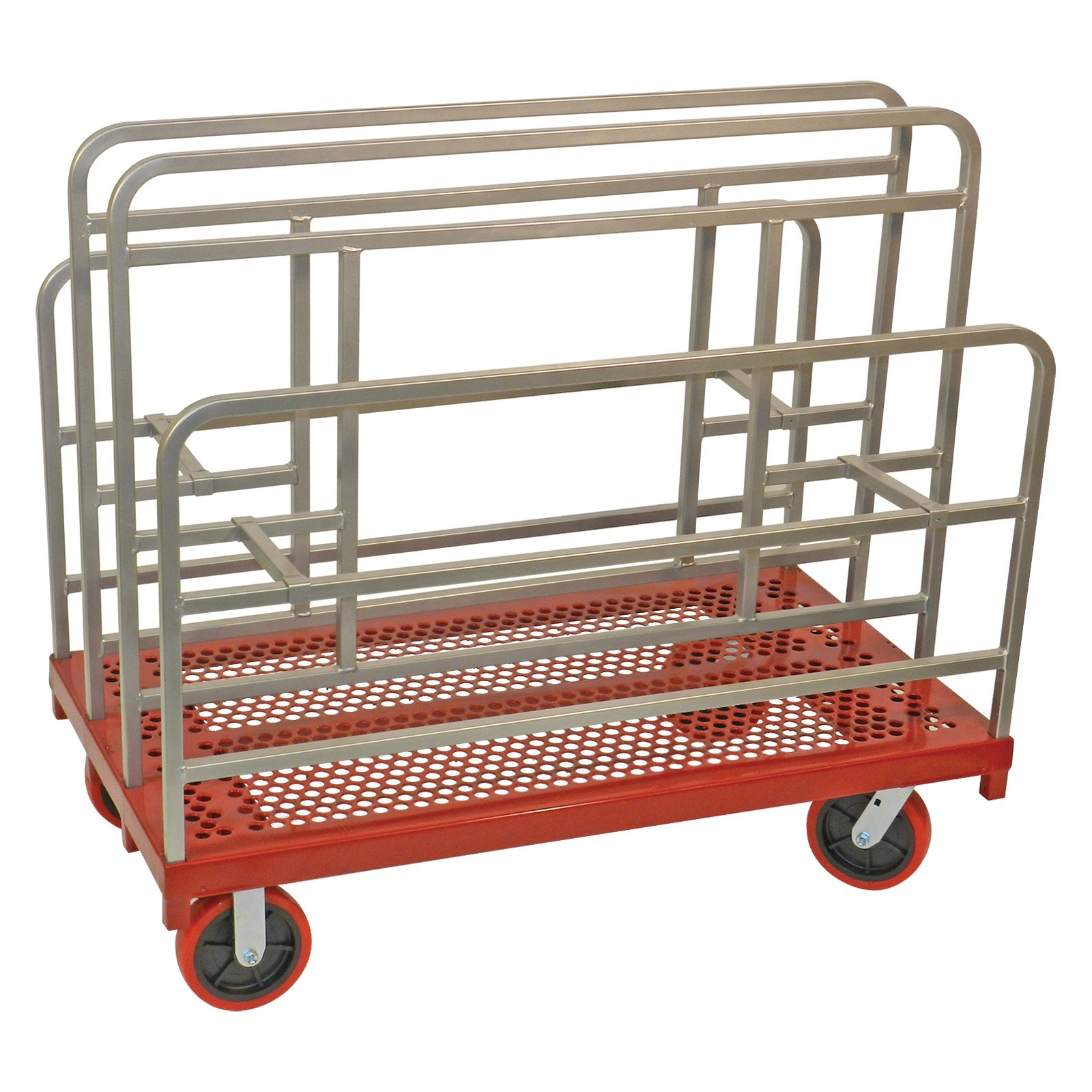 Raymond Products Coated Heavy Duty Cross-Braced Panel/Sheet Mover with Swivel 8 in. Quiet Poly Casters