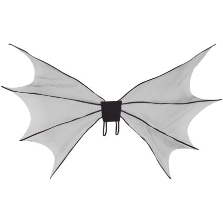70 Fashion For Halloween (Loftus Halloween Costume Large Bat Wings, Black, One Size)