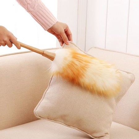 Electronicheart Dust Mites Dusting Brush Wooden Handle Cleaning Screen Funiture Ceiling Fans Blinds Duster - image 6 of 6