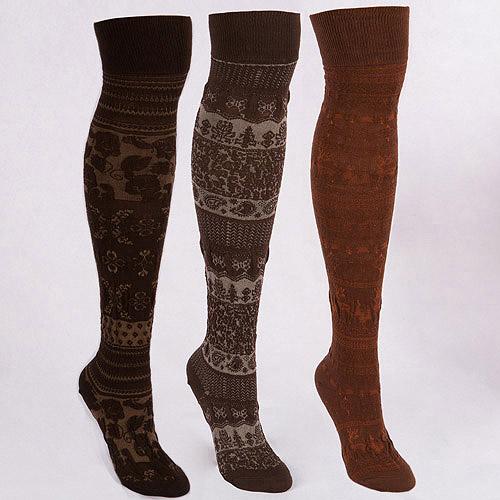 MUK LUKS Women's 3 Pair Microfiber Sock Pack