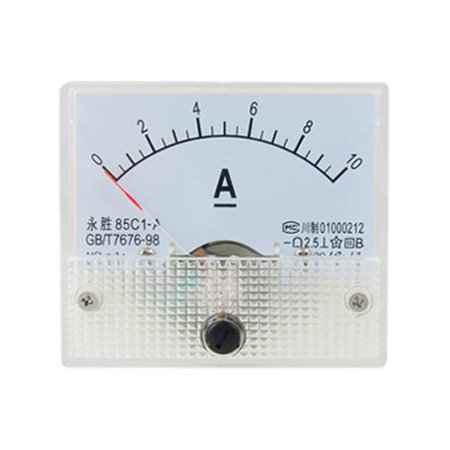 Fine Tuning Dial Panel Ampere Meter 85C1-A DC 0-10A