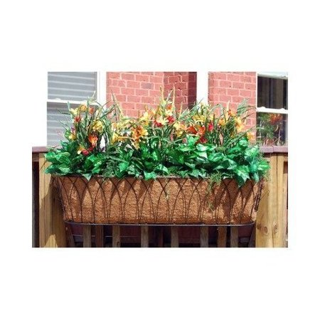 Nelumbo Window Box Planter 30 Inch Black Walmart Com