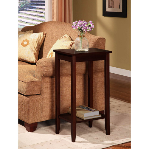 Rosewood Tall End Table, Coffee Brown