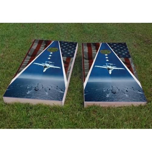 Custom Cornhole Boards Navy Theme Cornhole Game (Set of 2)