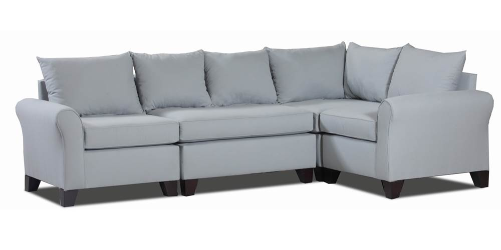 Carolina Accents Belle Meade 4-Piece Sectional Sofas, Light Slate by Carolina Accents