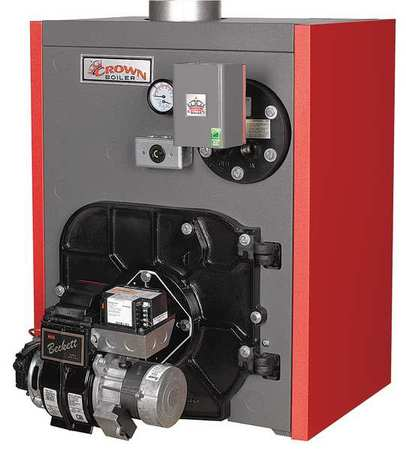 Atmospheric Vent Hot Water Boiler,Oil CROWN BOILER CO. TWZ075BOLT3PSU
