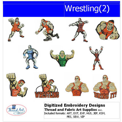 Threadart Machine Embroidery Designs Wrestling(2) CD