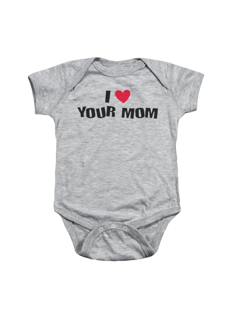 I Love Your Mom Funny Phrase Infant Snapsuit Baby Romper Snapsuit