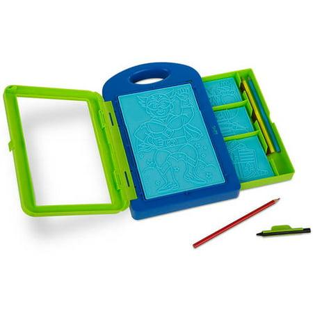 - Melissa & Doug Adventure Design Activity Kit: 9 Double-Sided Plates, 4 Colored Pencils, Crayon