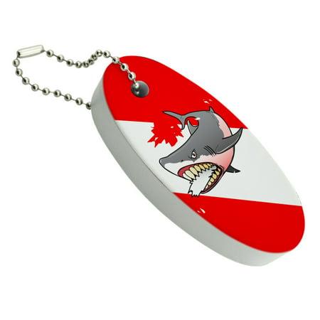 Angry Shark Scuba Diving Flag Diver  Floating Foam Keychain Fishing Boat Buoy Key Float Boats & Buoys Glass Print