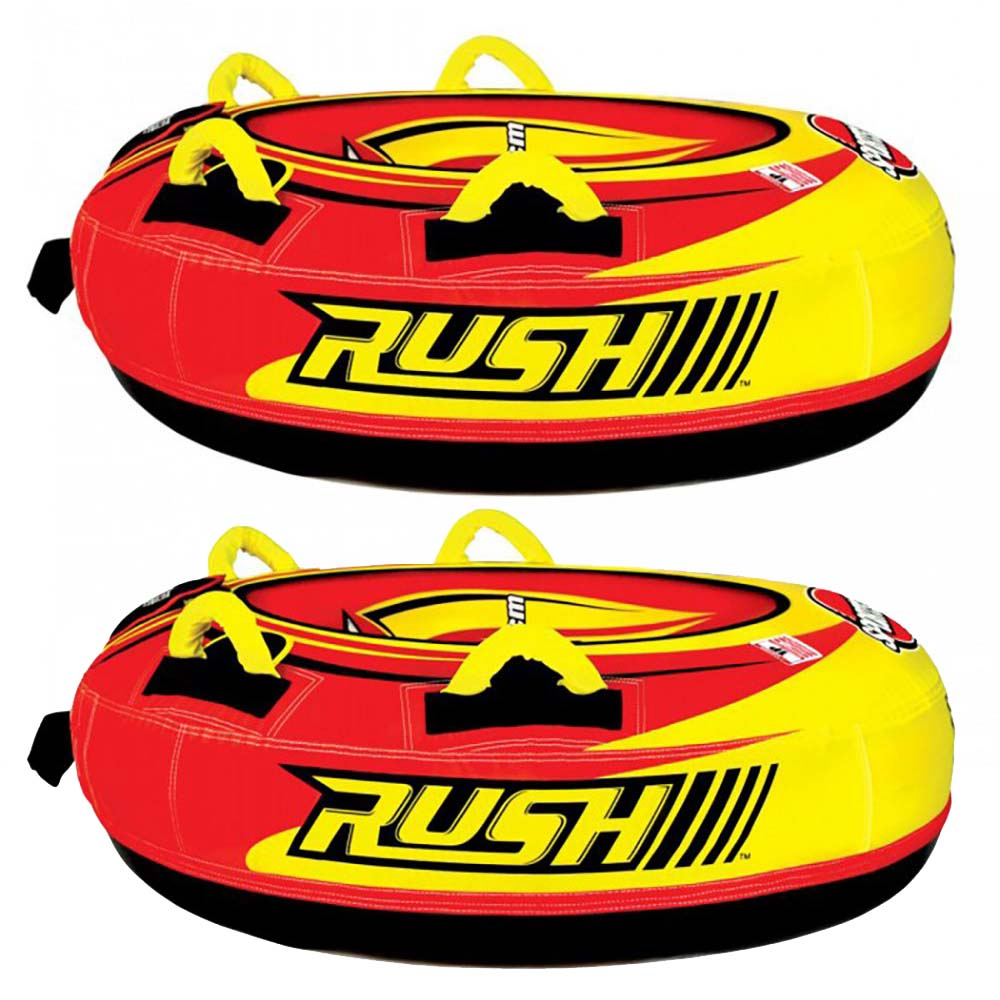 Sportsstuff Rush Inflatable 40-Inch Snow Tube with 4 Foam Handles (2 Pack) by