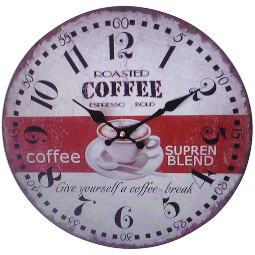 Clock with Coffee Design