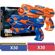 TOYIFY 2 Pack Blaster Guns Toy Guns for Boys with 60 Pack Refill Soft Foam Darts for Kids Birthday Gifts Party Supplies Hand Gun Toys for 4 5 6 7 Year Old Boys