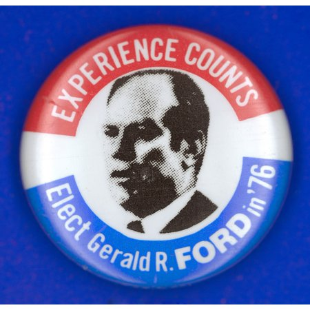 Presidential Campaign1976 Nrepublican Campaign Button From The 1976 Presidential Election Featuring Gerald Ford Rolled Canvas Art -  (24 x 36)