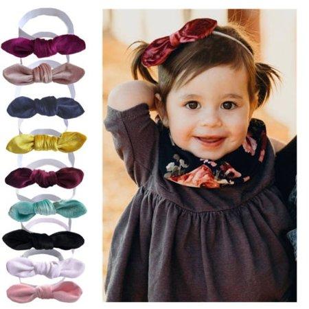 a3b28516f1f1e Toddler Kids Baby Girls Bunny Rabbit Bow Knot Turban Headband Hair Band  Headwrap Hair Accessories