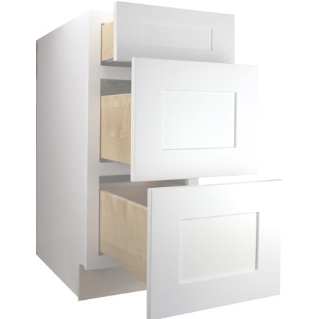 Cabinet Mania White Shaker - DB12 - Drawer Base Cabinet 12 ...