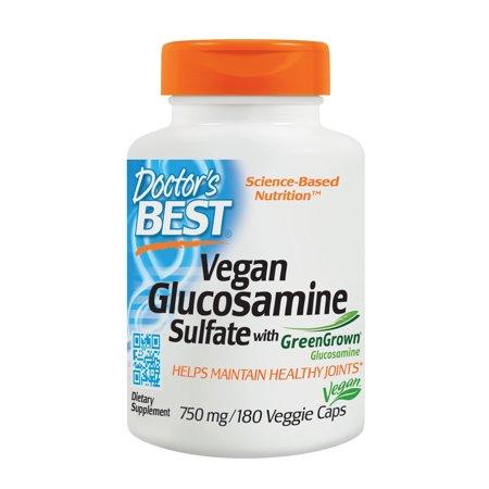 Doctor's Best Vegan Glucosamine SulFate, Joint Support, Non-GMO, Vegan, Gluten Free, Soy Free, 750 mg 180 Veggie (Iron Free 180 Caps)