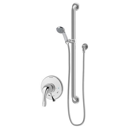 Origins Single Handle Hand Shower Faucet with Integral Volume Control and Stops Hand Relieved Single Handle