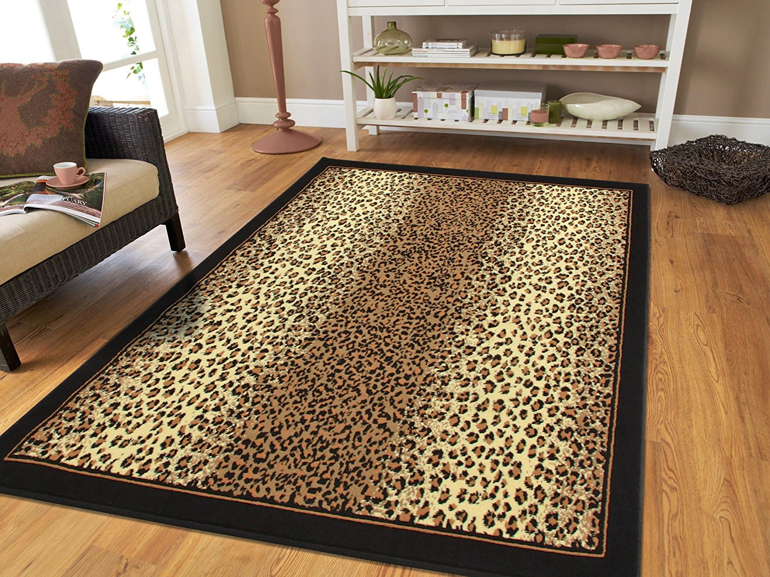 Large 8x11 Cheetah Rugs Brown Leopard