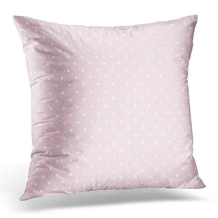 Polka Dot Pillow Box (ECCOT White Baby Pink Polka Dot Pattern Abstract Pillowcase Pillow Cover Cushion Case 18x18 inch)