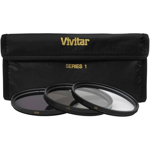 Vivitar 3-Piece Multi-Coated HD Filter Set (58mm UV/CPL/ND8)