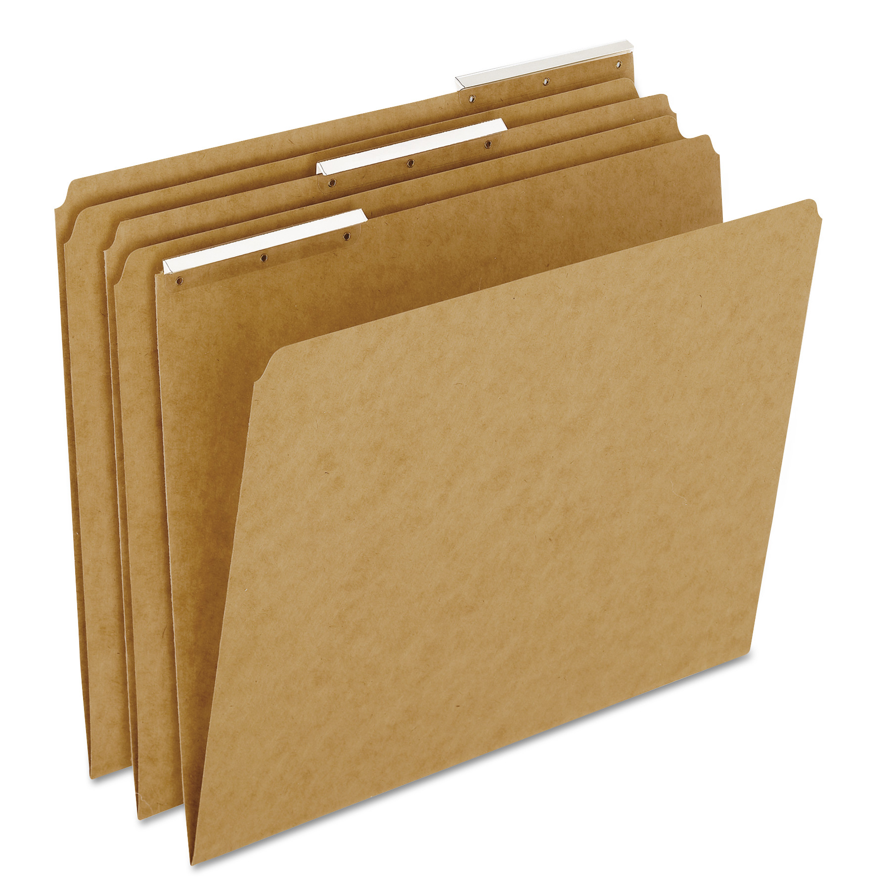 Pendaflex Kraft Angled Plastic Tab File Folders, 1/3 Cut Top Tab, Letter, Brown, 50/Box -PFXAC18213
