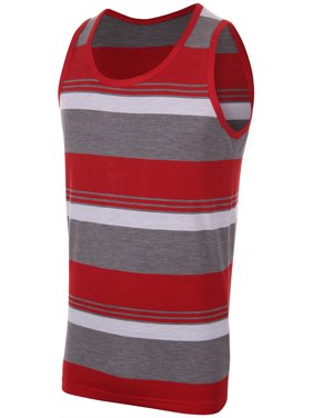 b9f366a512c1f Product Image Enimay Men s Striped Summer Hulk Beach Tank Top Slim Fit Gym  Muscle Shirt 2630