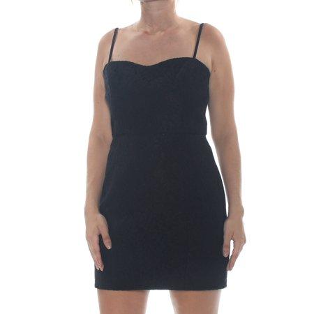FRENCH CONNECTION Womens Black Spaghetti Strap Sweetheart Neckline Mini Body Con Party Dress  Size: 10