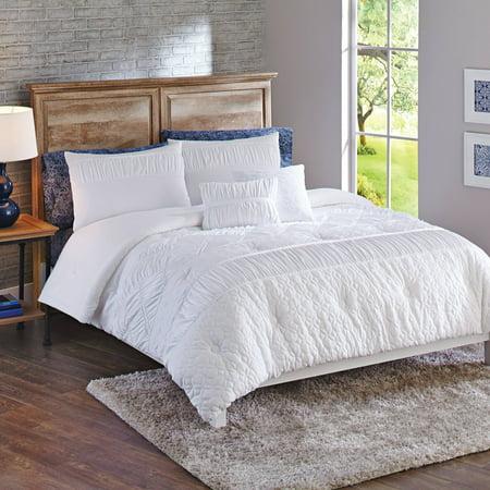 Better Homes & Gardens King Textured Classic Comforter Set, 5 Piece