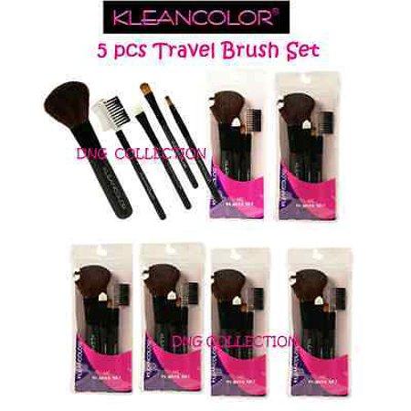 LWS LA Wholesale Store  KleanColor TRAVEL Brush set 5 pcs - Concealer LIP EYEBROW eyeshadow Blush CB753